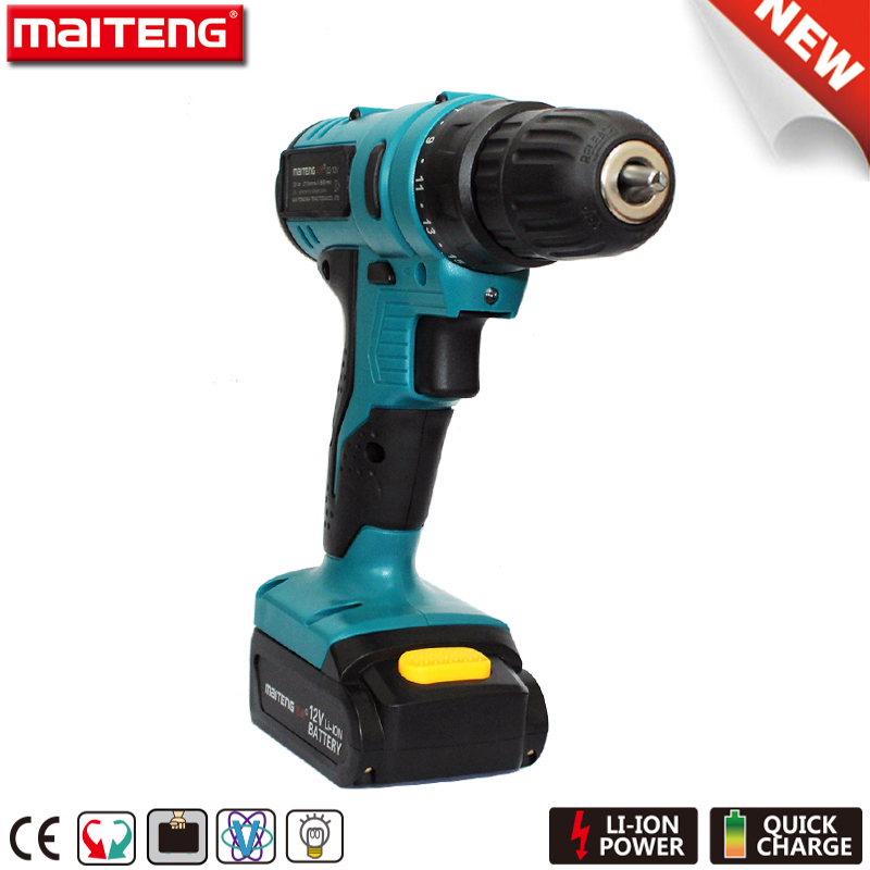 Cordless Drill 10.8 Volt Wireless Screwdriver for Woodworking