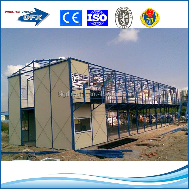 Prefab steel frame mobile labor camp modular office house plans house