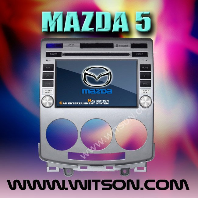 WITSON MAZDA 5 DOUBLE DIN CAR STEREO with USB port and iPod ready