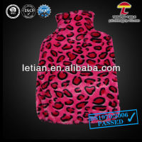 large plush hot water bag with animal cover fashion red colour with flecks