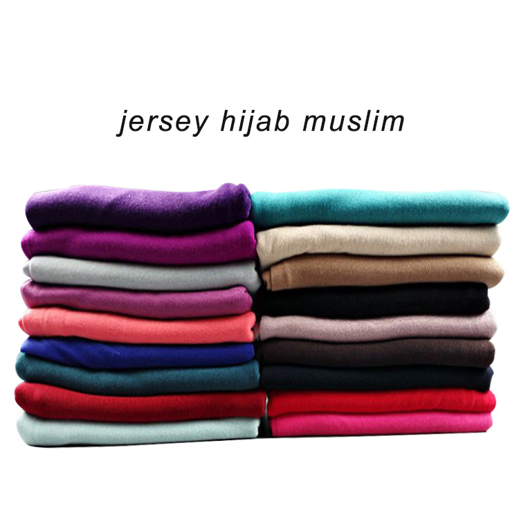 2017 Best-selling fashion lightweight plain muslim head scarf Arab hijab scarf shawl jersey hijabs