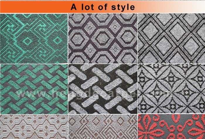 2017 new trendy washable computer jacquard carpet for corridor and office
