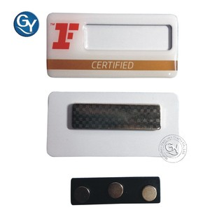 Plastic magnetic name badges for sale/Custom name badges plastic
