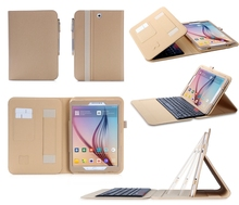 China Supplier Tablet Keyboard Case Leather Flip Tablet Case With Card Slot For Samsung Tab S2 SM-T810
