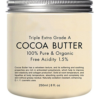 Private label best price 100% pure unrefined raw cocoa butter for skin care hair care