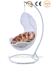 The latest home sense bird nest shape swing bed garden hanging swing chair / hanging egg swing chair with stand
