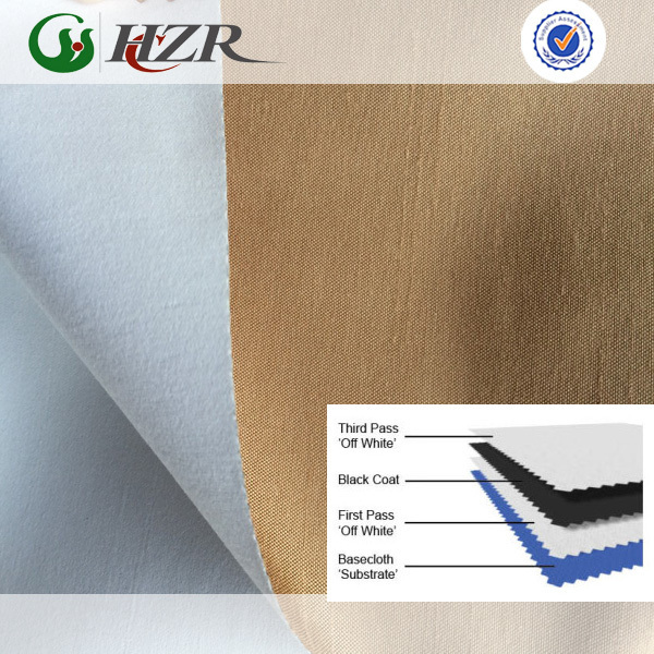 3 pass coated polyester dupion silk water maching washing curtain fabric