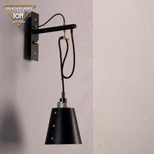 New style OEM ODM home goods decoration black iron industrial vintage interior wall lamp hanging light fixtures