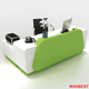 Modern Artificial Marble Office Furniture Clinic Spa Reception Desk Service Counter