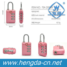 TSA Approved 3 Combination Travel Suitcase Luggage Padlock Number Code Lock
