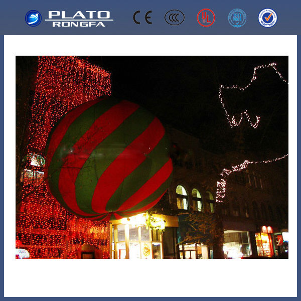 lightful and beautiful battery inflatable giant balloon ball / led hanging balloon for decoration and advertising