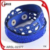 Bracelet making supplies leather bracelet blue leather bracelet girls