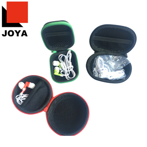 mini promotional ear buds in travel case with full color imprint earbuds zip case branding