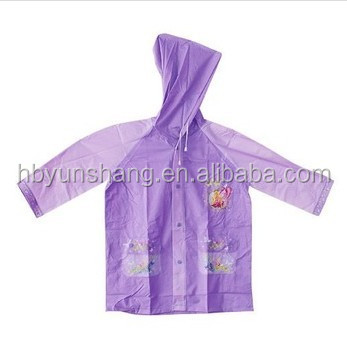 fashion PVC children rain coats and rain poncho