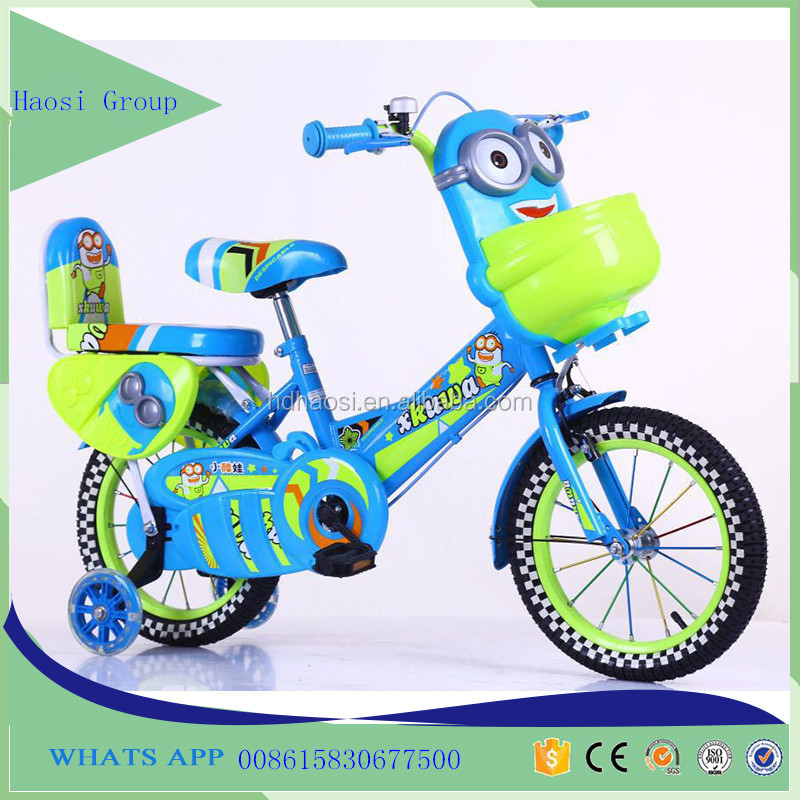 Hot sales minions kids tricycle bike/children cartoon plastic tricycle kids bike cheap