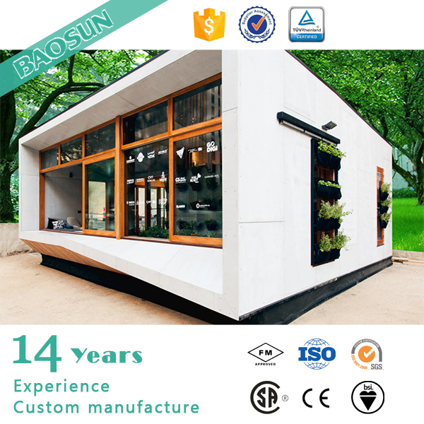 BAOSUN customer individual fashion design integrated modular house with CE certification in Europe