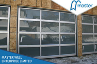 Aluminum glass panel garage door manufacturer