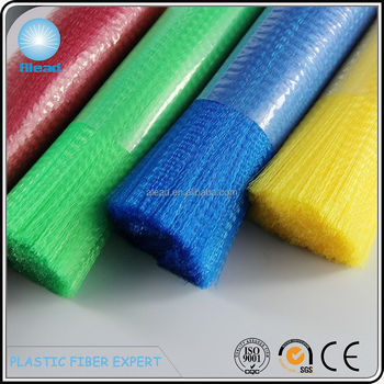 Colorful PP filament plastic fiber in level or crimp with various profiles for producing cleaning brush