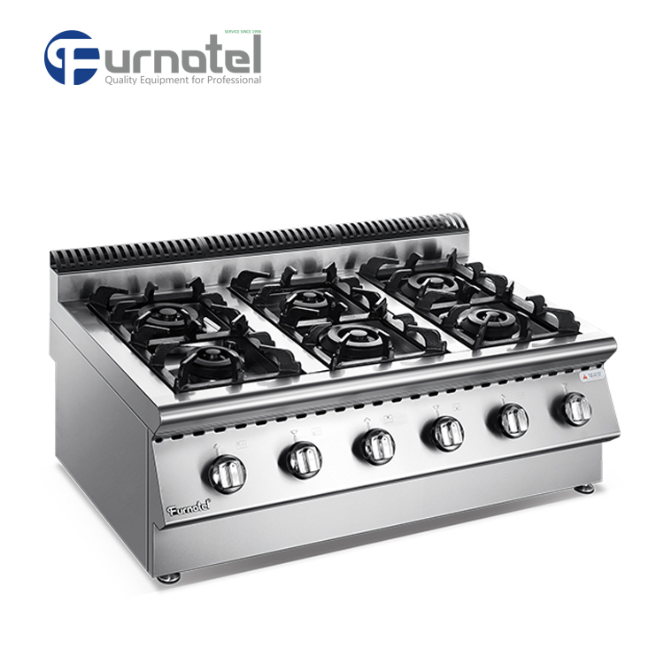 Table Top x Series Kitchen Gas Range 6 Burner With Cabinet
