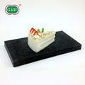 Black colour plastic dessert snack food serving tray with high quality