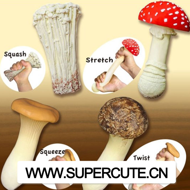 Mushroom stress toy squeeze ball anti stress reliever toy