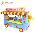 Bus shape Kids kitchen play food set food toys with light and music