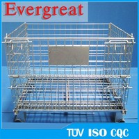 collapsible foldable metal wire mesh container/steel rack/steel pallet with premium quality