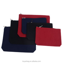 Stock Plain Canvas Makeup Bag Black Cosmetic Bag
