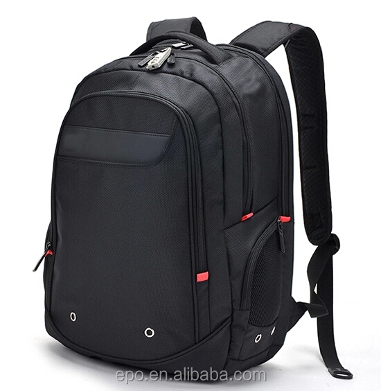 2018 fashion best selling 15.6 inch black laptop backpack for business