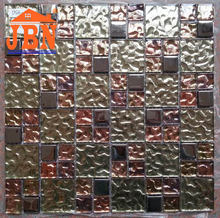 colorful rainbow color shinning floor design mosaic tile crystal glass mosaic tile