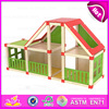 2017 New wooden toy doll house for kids,Child Wooden Assembling Assembles Doll House,DIY doll house toy wholesale W06A110