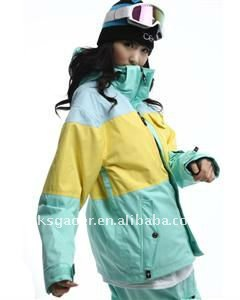 high end quality snowboard jacket for women,waterproof and breathable fabric