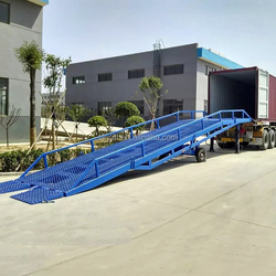 hydraulic elevating mobile yard ramp