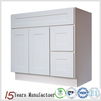 Ready To Assembled White Shaker Style Bathroom Vanity Cabinet