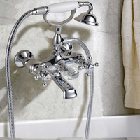 Luxury Classical Bath Tub Tap with Telephone Shape Handle Shower