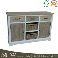 french buffet with basket sideboard buffet