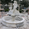 natural stone woman garden outdoor water fountain