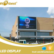 p10 high resolution Digital Comercial led display board/airport led screen