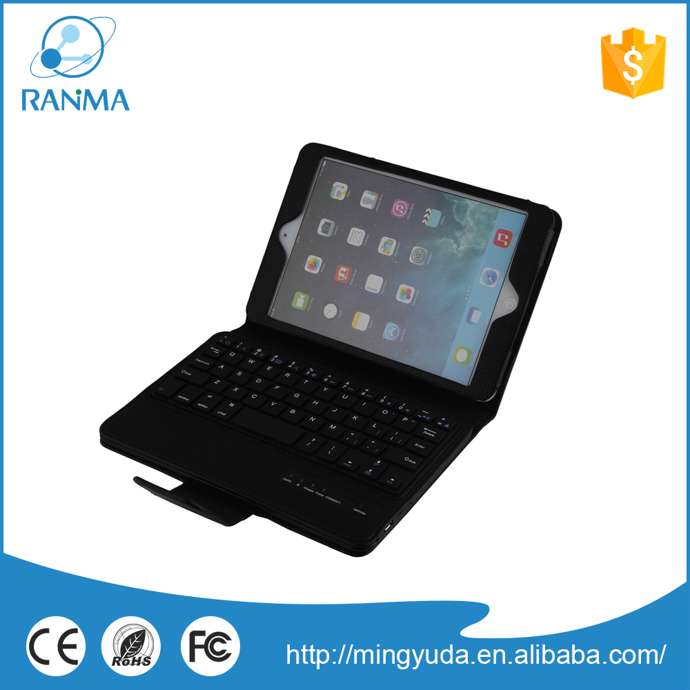 Universal bluetooth stand keyboard leather case for ipad mini 2