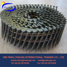 Yellow Vinyl Coated Pallet Coil Wire Nail