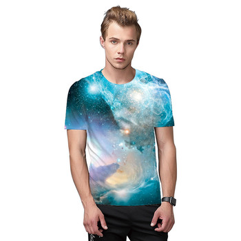 P62 wholesale 2018 light blue galaxy polyester sublimation t shirt