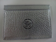 Custom business leather card holder with embossed logo