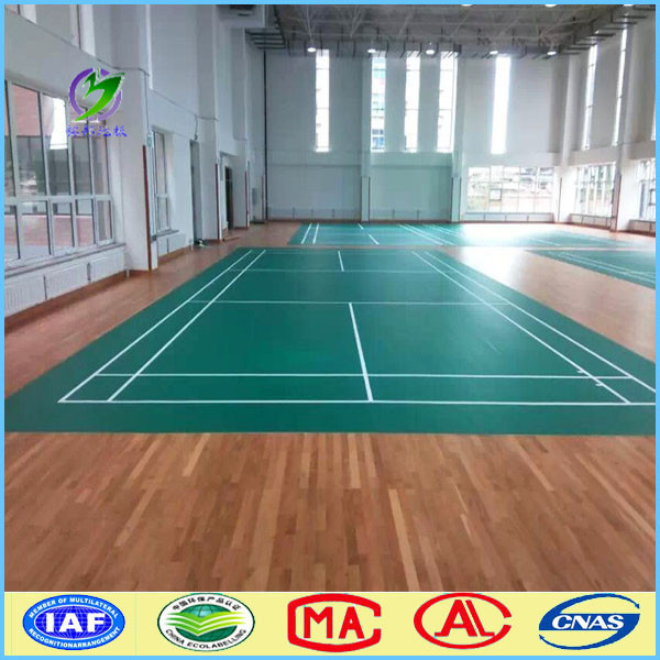 Low-cost indoor tennis badminton court wooden flooring