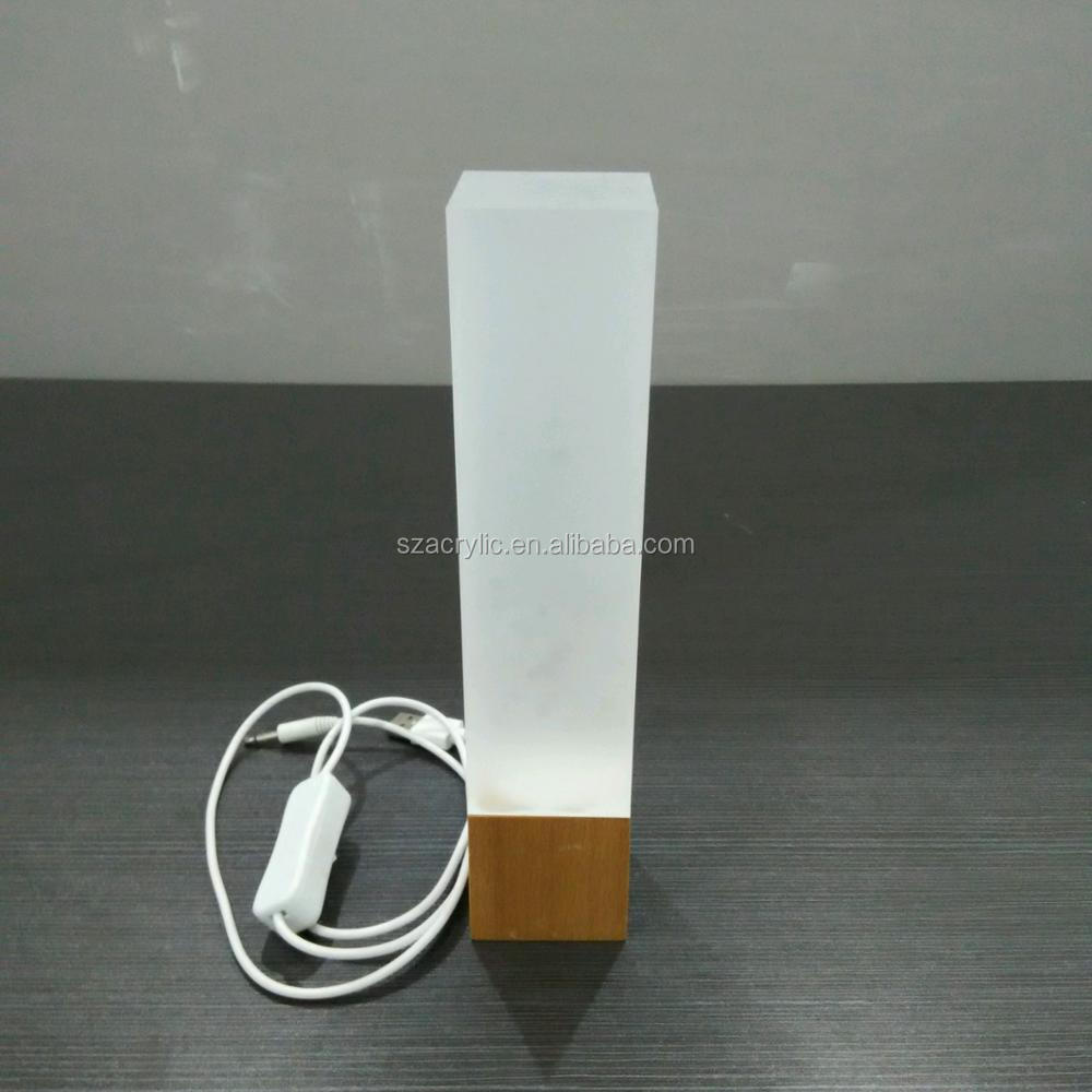 Wholesale customized frosted acrylic led night light