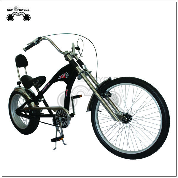 20-24 inch hot sale steel frame mens black chopper bike <strong>cycling</strong>