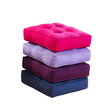 Polyester canvas tatami office chair seat cushion with buttons