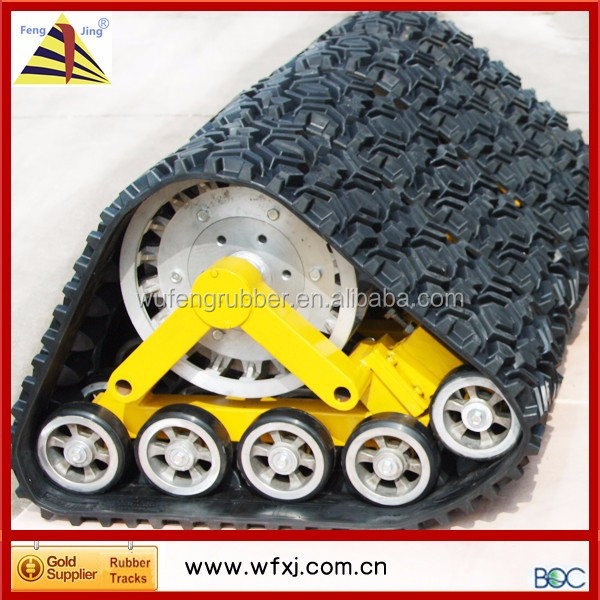 SUV track kit rubber track undercarriage parts snowcat/Buggy 4x4 kits car