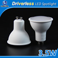 PC+Aluminum inside 3.5W spotlight, CE Rohs approved dimmable ac220-240v 0.9pf led spot light