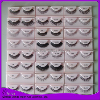 Hot sale eyelash custom style human hair lashes