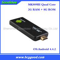 Factory Price! mk809III quad core 2g/8g android wifi dongle tv box wifi